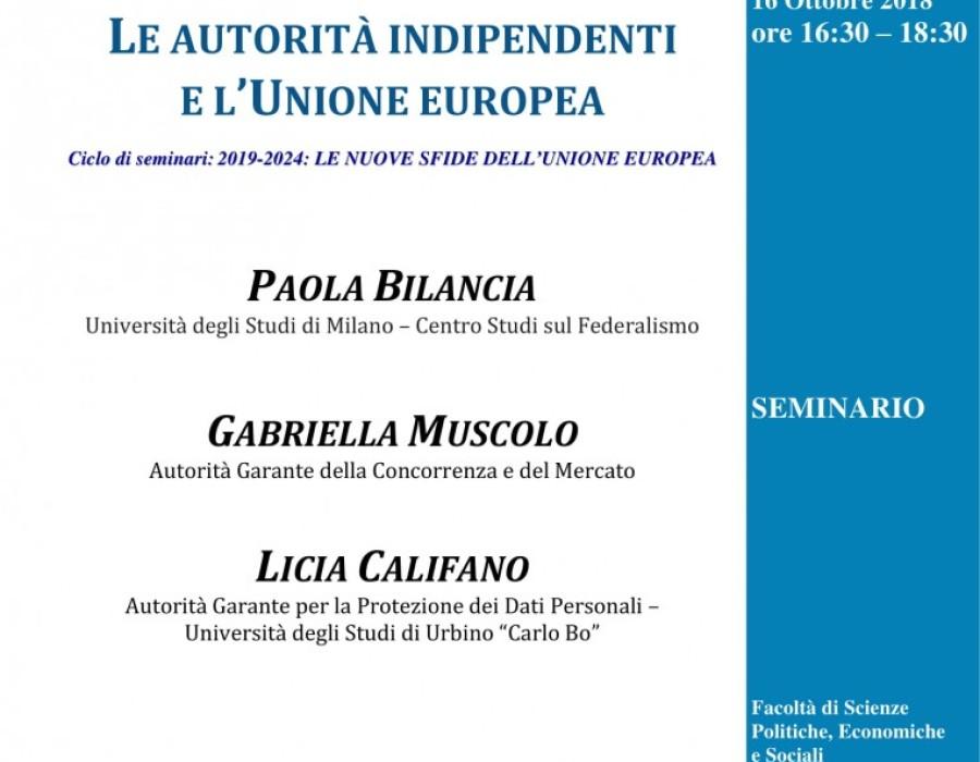 Le autorità indipendenti e l'Unione europea